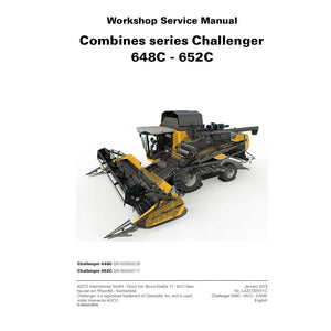 Challenger 648C, 652C Combine Harvester Service Repair Manual