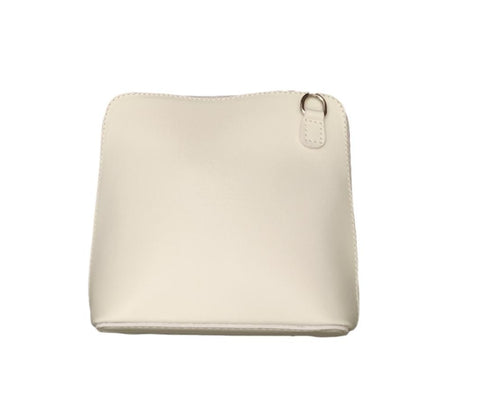 CL51 Small cream leather cross body bag