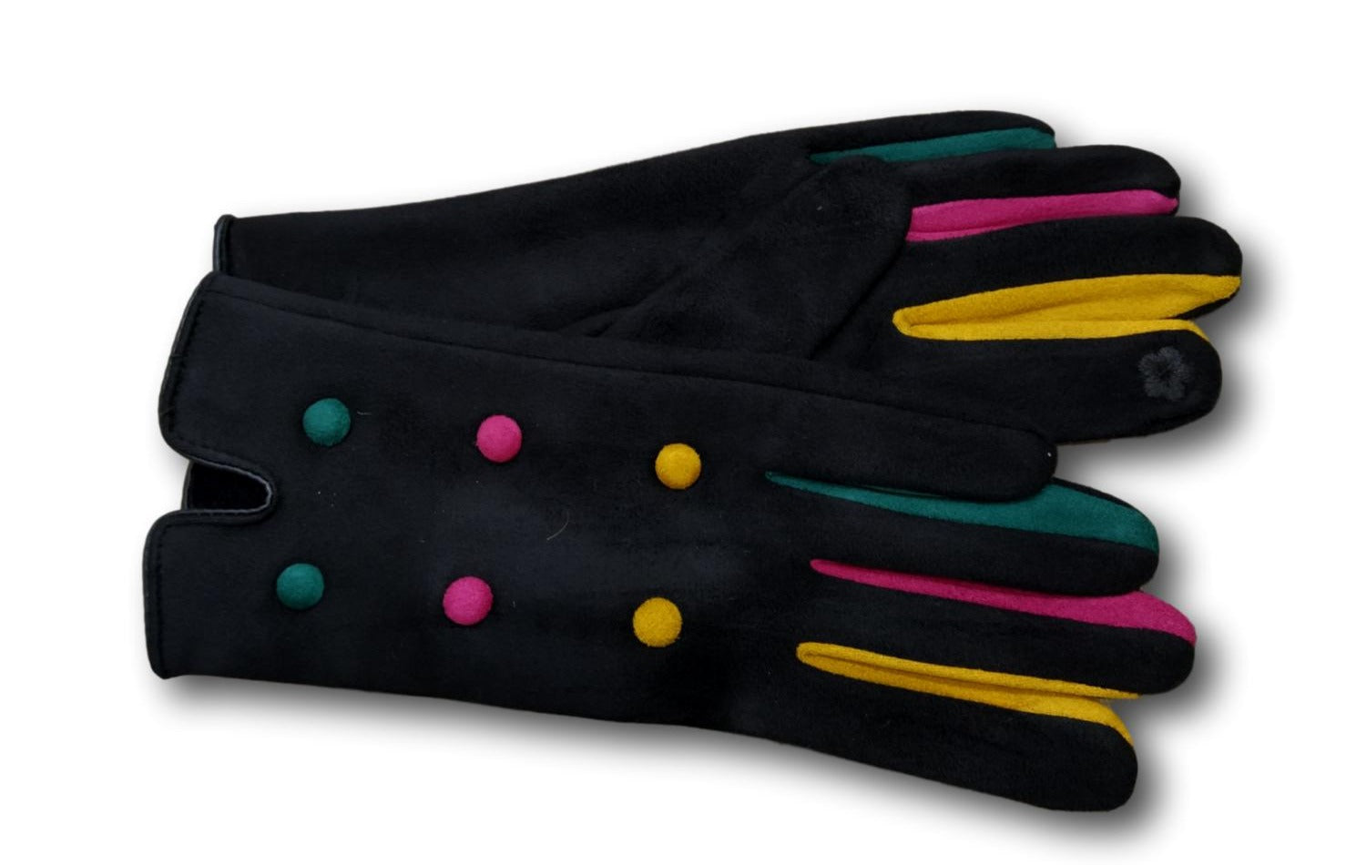 GL010 Black Coloured finger glove with buttons