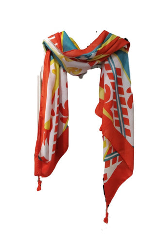 SC55 Orange sarong scarf
