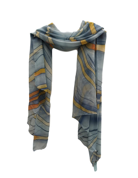 Swirls design scarf.
