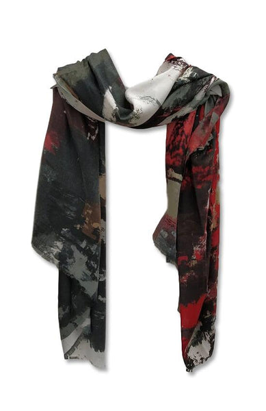 Red Grey Scarf