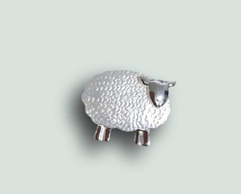silver sheep magnetic brooch