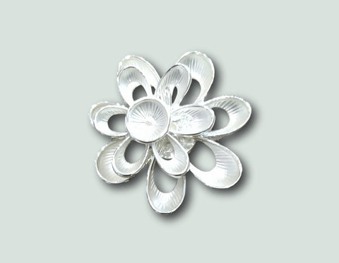 BR037 Magnetic Flower Brooch
