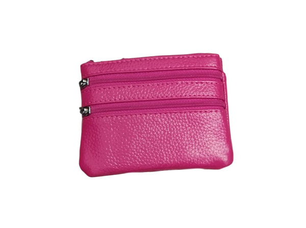 P01 Pink Small Double Zip Purse
