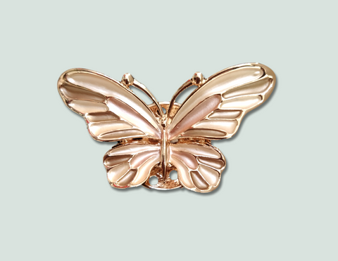 rose gold butterfly magnetic brooch