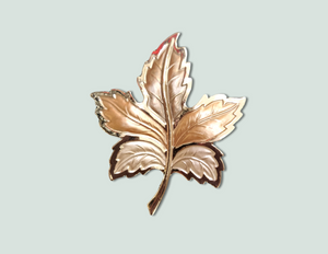 Leaf magnetic brooch