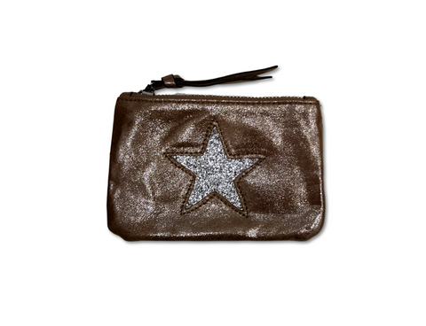 bronze sparkle purse