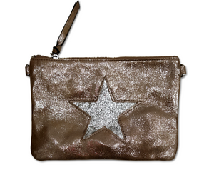P04 Bronze and Silver Large Star Purse
