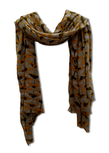 orange black scarf
