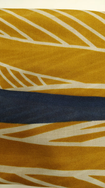 SC098 Mustard and blue lines