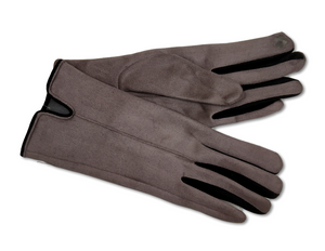 GL014 Grey Suede Two Tone Gloves