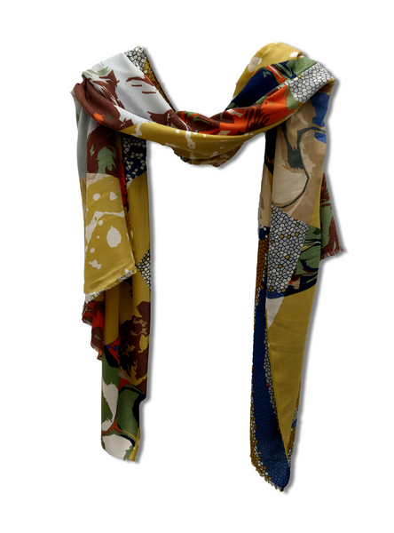 SC102 Bright Multipattern Scarf