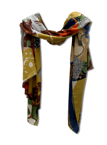 Bright Multipattern Scarf