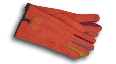 GL08 Orange Coloured Finger Gloves