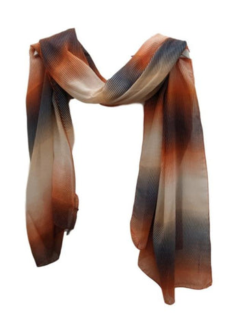 SC66 Orange stripes scarf
