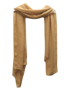 PS006G Satin Scarf Gold