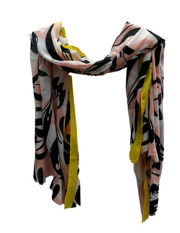 SC116 Pink tulips scarf