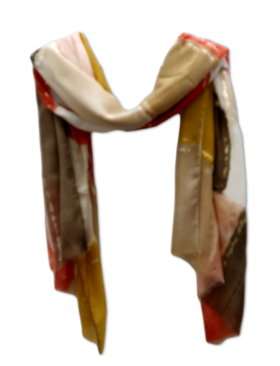SC095 Orange, mustard and gold scarf