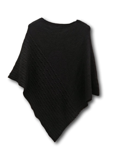 W2 Black cable poncho