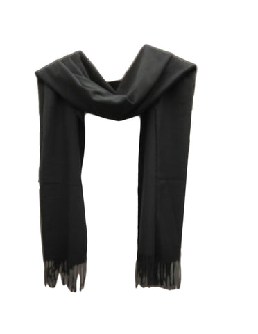 Black pashmina weight scarf.