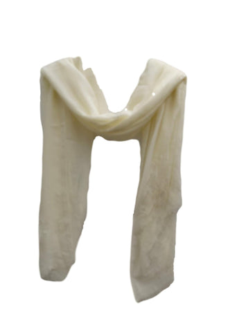 PS008 Sequin stripe scarf cream