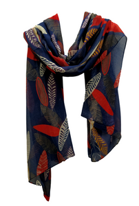 SC112 Blue feather scarf