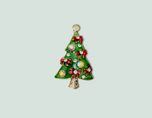 BR060 Green Christmas Tree Brooch.