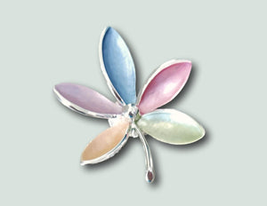 BR035 Magnetic Pastel Flower Brooch