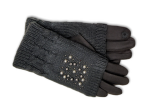 Double layer glove with knitted outer
