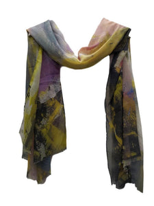 Multi colour abstract scarf