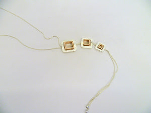 N027 Squares necklace