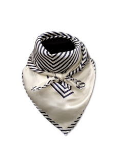 Satin Square Geometric design scarf