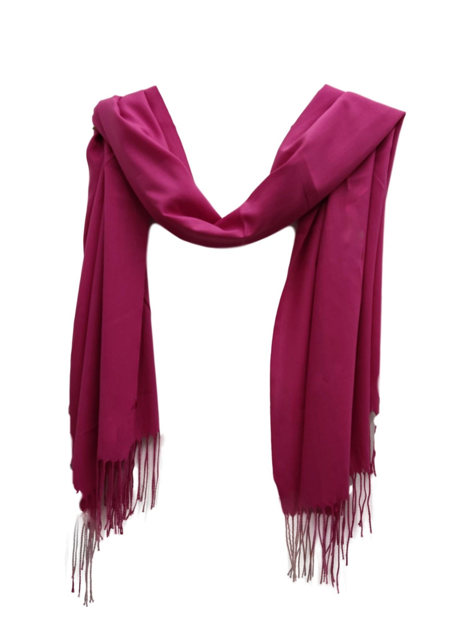 Fuschia pink linen style scarf