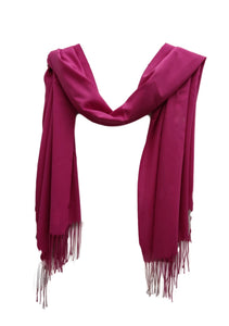 PS009  Fuschia pink linen style scarf