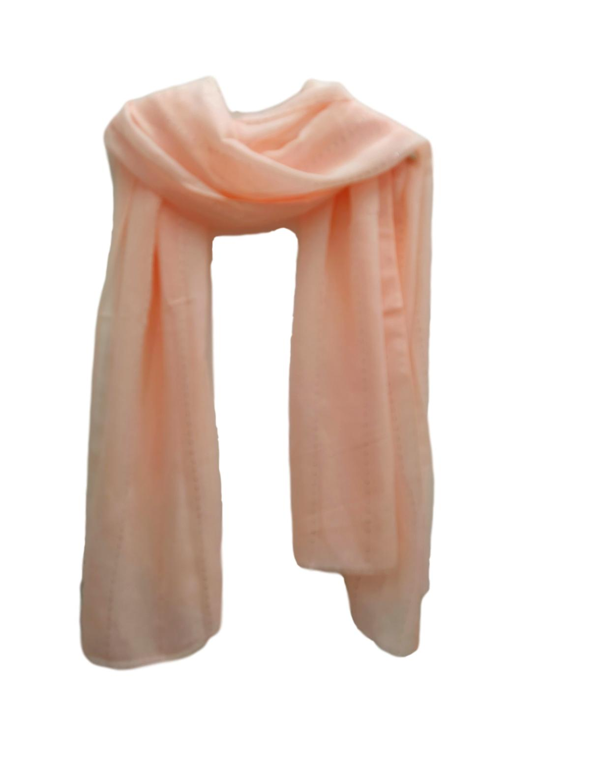 PS007 Sequin stripe scarf Peachy pink