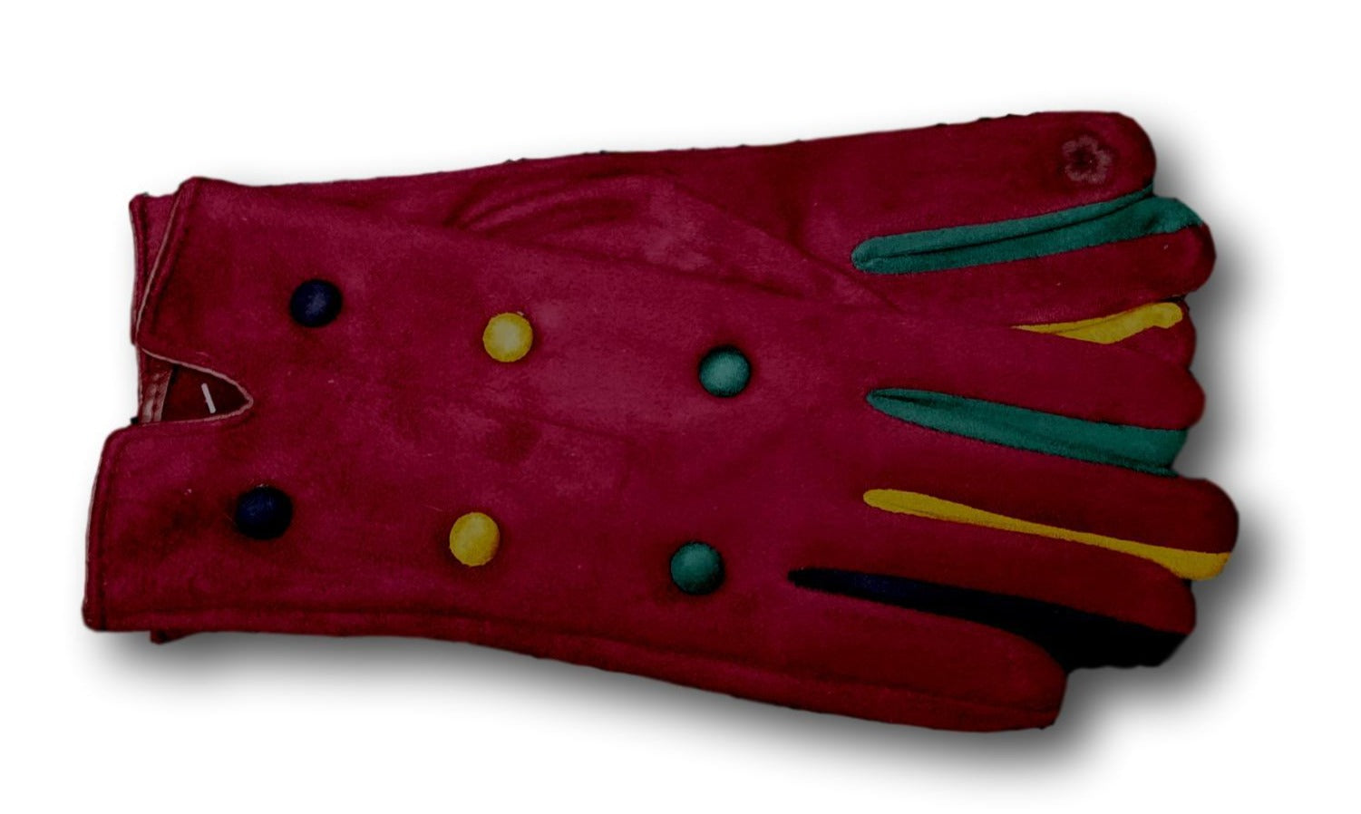 GL010 Red Coloured finger glove with buttons