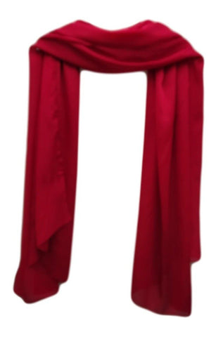 PS006R Satin Scarf red.