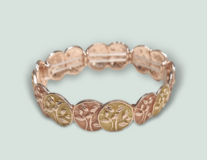 BL51 Gold and Rose Gold Tree Bracelet