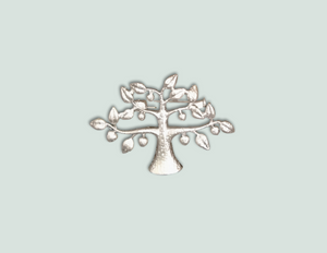 Silver tree of life brooch