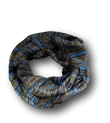 SS016 Blue Layers Silk Scarf