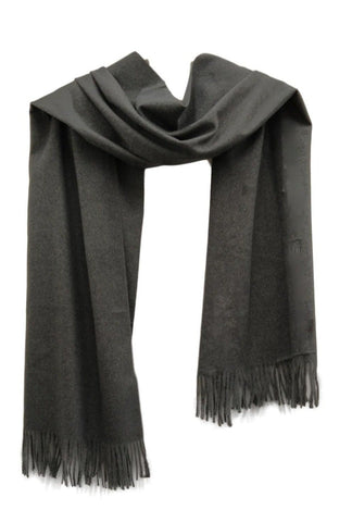 PS005dg Heavy weight pashmina style scarf in dark grey