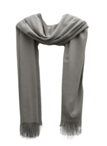 Heavy weight pashmina style scarf Pale grey