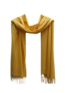 PS012 Yellow linen look scarf
