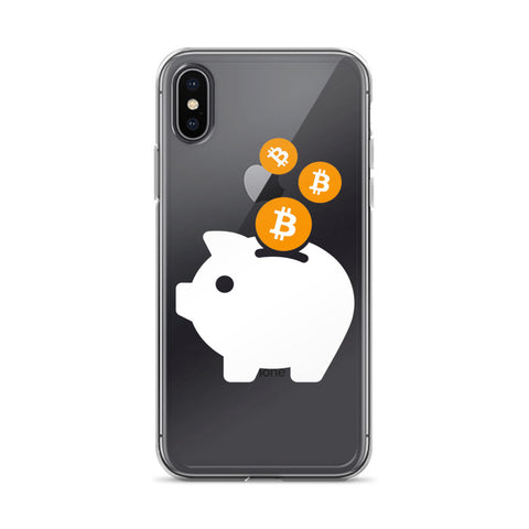 Bitcoin Piggy Bank iPhone Case