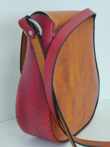Handmade Leather Shoulder Bag - Hand-dyed Latigo, hand-stitched