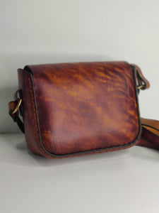 Handmade Latigo Crossbody / Shoulder Bag - Hand-dyed, hand-stitched