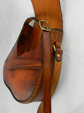Handmade Leather Shoulder Bag - Hand-dyed Latigo, hand-stitched - Solid Brass hardware