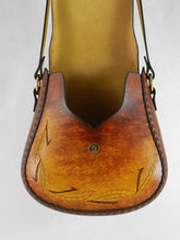 Handmade Latigo Leather Shoulder Bag - Hand-dyed, hand-stitched - Solid Brass hardware