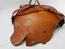 Handmade Natural Edge Latigo Leather Tote Bag \ Shoulder Bag with Natural Edge Back Pocket - Hand-dyed, hand-stitched